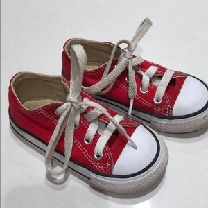 Converse Red Chuck Taylor Low Top Toddler 7